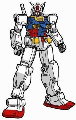 robotic hero icon colored hand drawn sketch