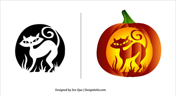 Free Scary Pumpkin Carving Patterns Stencils