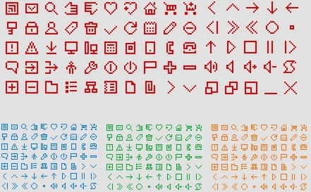 Free Icons pixel style icons pack