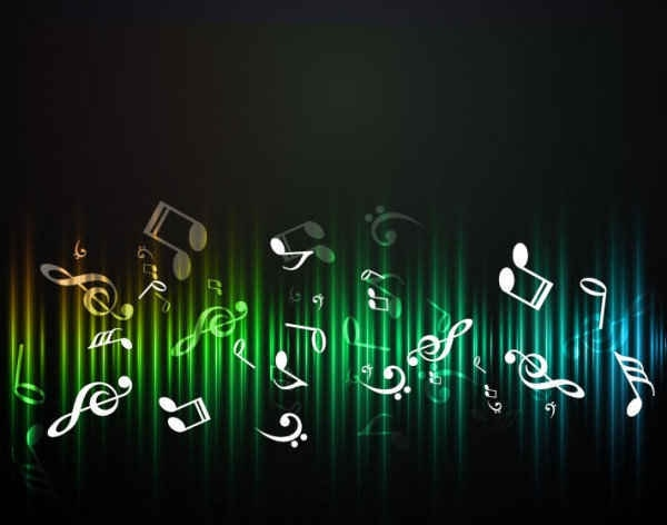 Music Abstract Backgrounds: Free Music Abstract Background Free Vector In Encapsulated