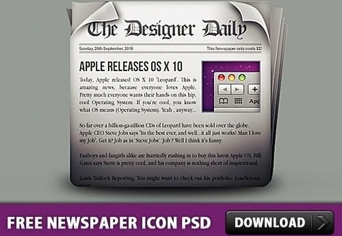 Free Newspaper Icon PSD