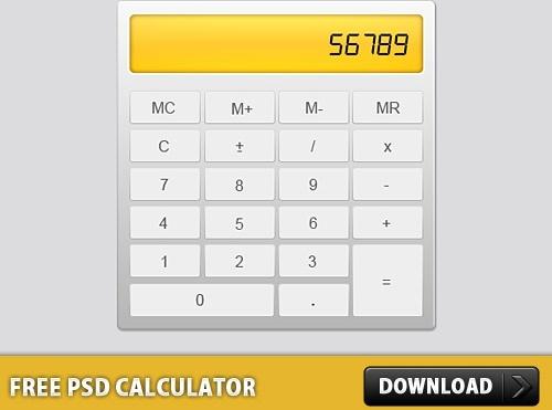 Free PSD Calculator PSD file