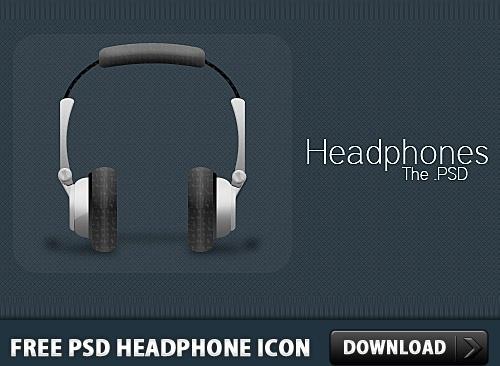 Free PSD Headphone Icon