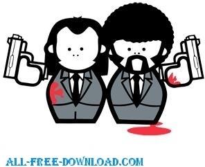 Free Pulp Fiction Cartoon Vector Image