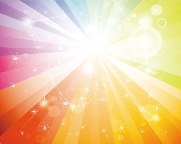 Free Rainbow Galaxy Vector Background