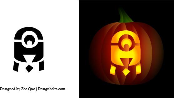 Free simple easy pumpkin carving stencils free vector in adobe