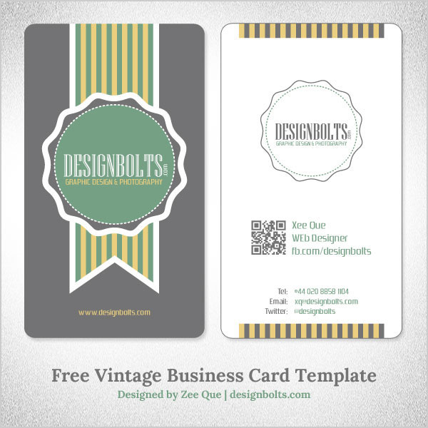 Free simple yet elegant vintage business card design template with free simple yet elegant vintage business card design template with qr code flashek Images