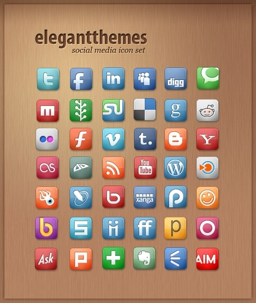 Free Social Media Icon Set icons pack