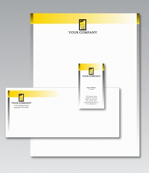 free stationery design template free vector in adobe illustrator ai