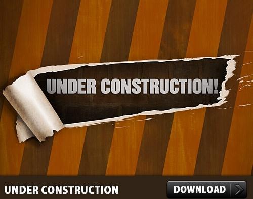 Free Under Construction PSD