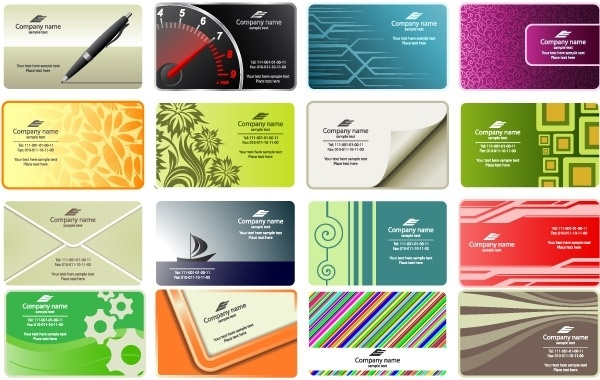 free vector business card templates free vector 92784kb