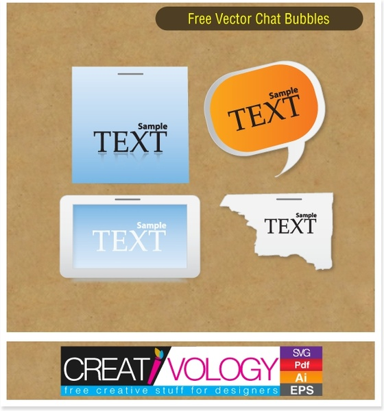 chat bubbles templates square rectangular torn classical shapes