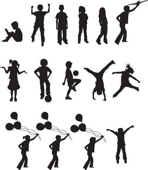 free vector children silhouettes free vector in encapsulated postscript eps   eps   vector child playing clipart child playing clipart