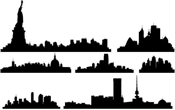 free vector city skylines free vector in adobe illustrator ai ai