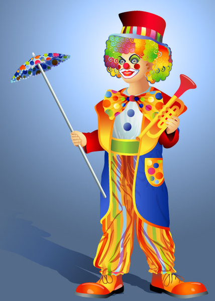 Free vector cute clown illustration Free vector in ...