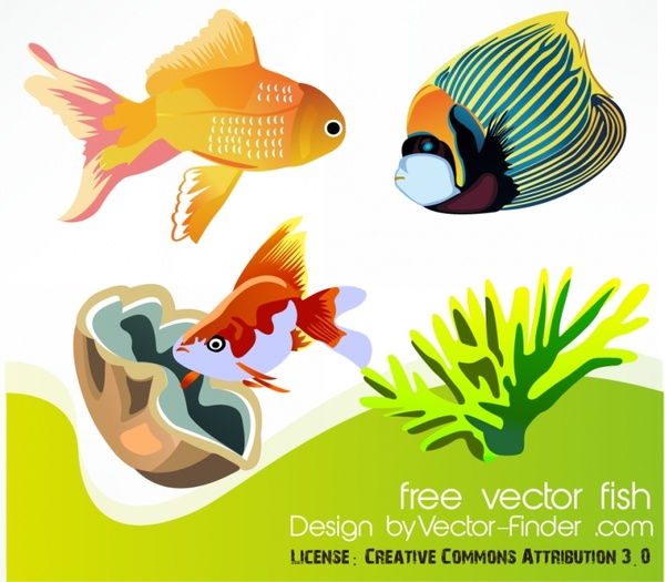 fishes background colorful cartoon style design