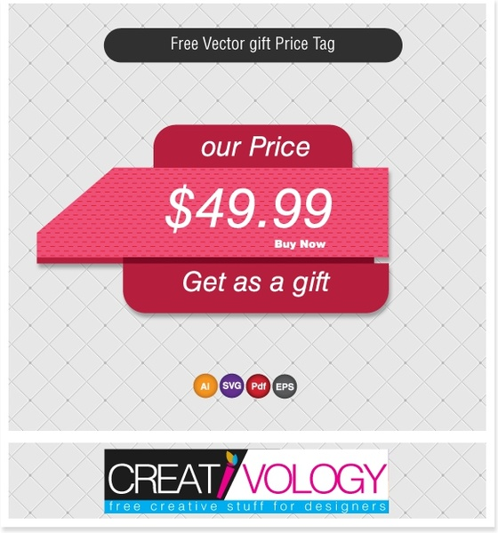 price tag template modern 3d design pink decor