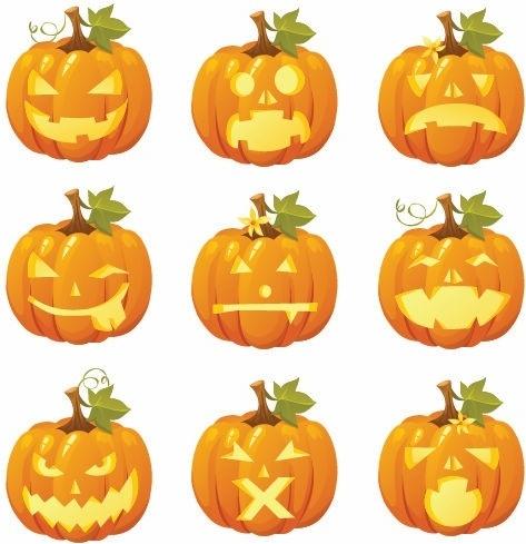 Free Vector Halloween Pumpkin Smiles