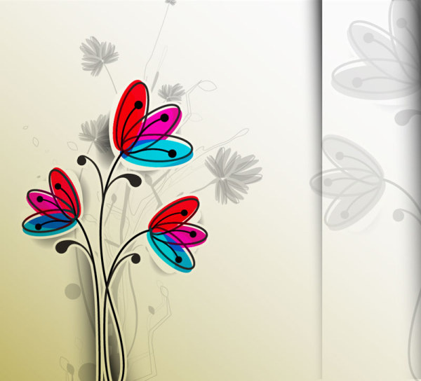 free vector hand drawn flower