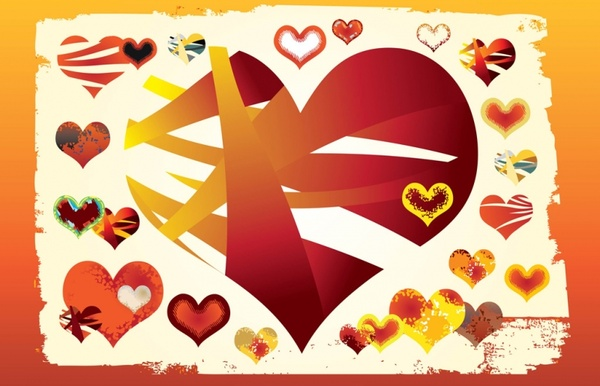 Free Vector Hearts Graphics