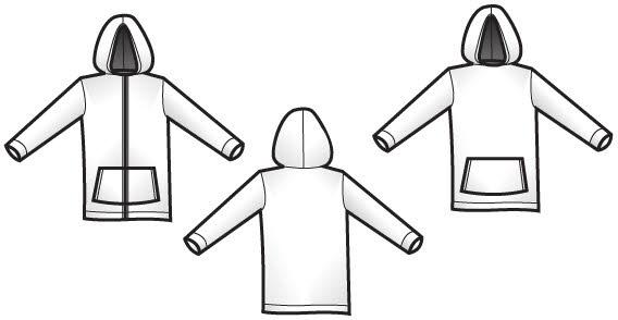 Free vector hoodie templates