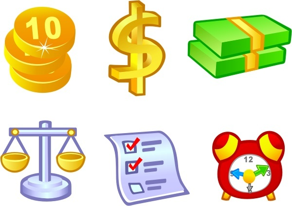 Free Vector Money Icons 163 28kb