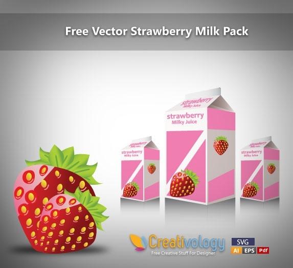 strawberry milk advertising background multicolored 3d modern design