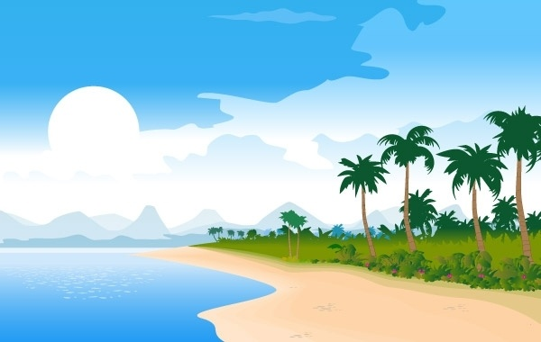 Free Vector Summer Beach Image