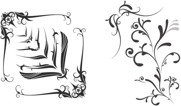 Free Vector Swooshes And Fancy Corner
