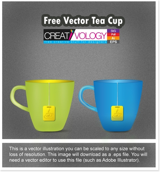tea cup background 3d object icons colored decor