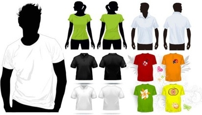 t shirt design templates human black silhouette style