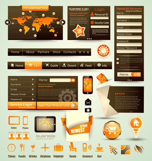 free vector web elements collection