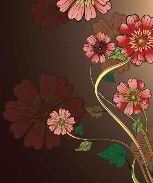 Free Vintage Floral Vector Background