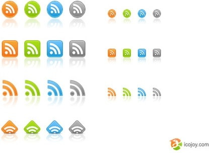 Free web 2.0 RSS icons icons pack