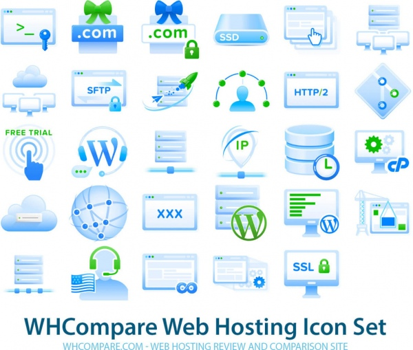 free web hosting icons png vectors