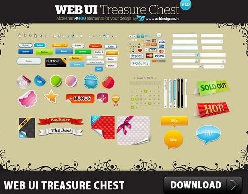 Free WEB User Interface Treasure Chest