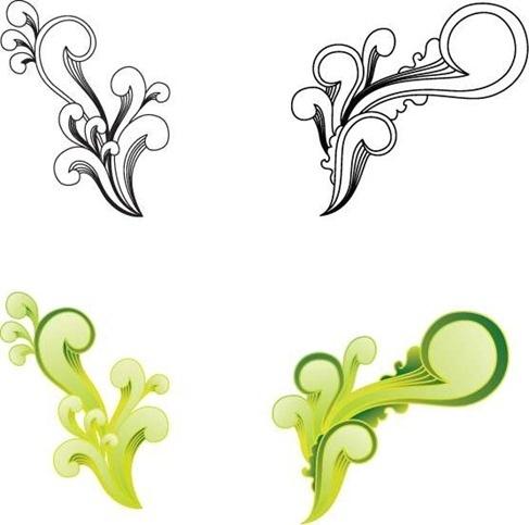 Free Witty Swirls Vector Graphic