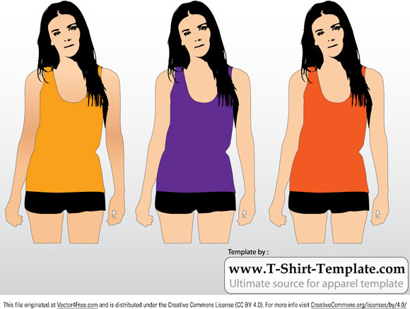 Free Womens Tank Top Template Vector Free Vector In Adobe