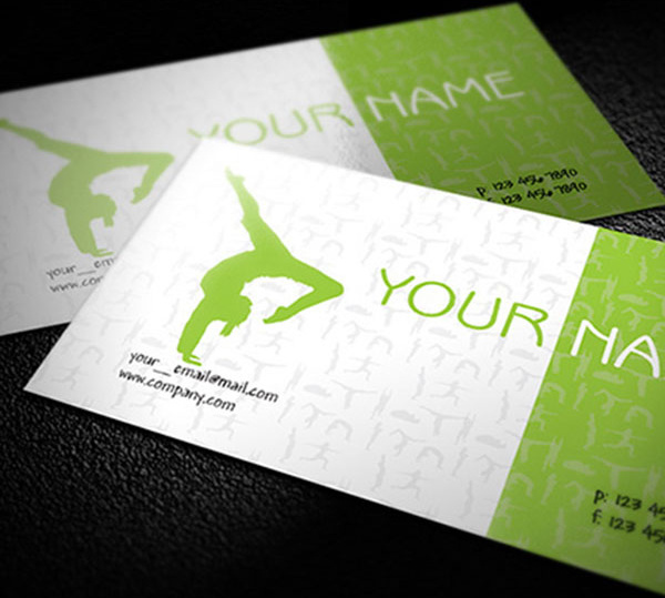 Free yoga teacher business cards design free vector in encapsulated free yoga teacher business cards design flashek Images