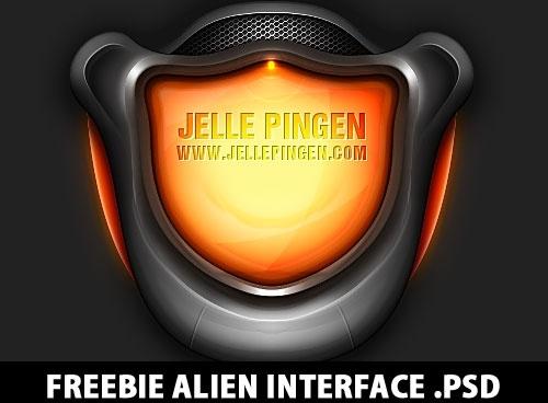 Freebie Alien Interface PSD