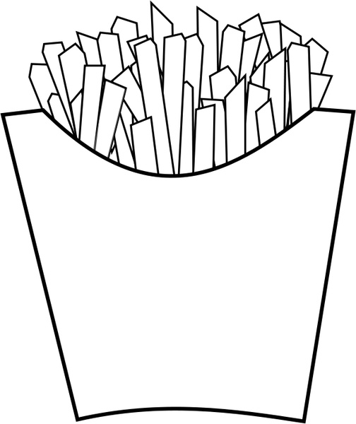 french fries line art free vector in open office drawing