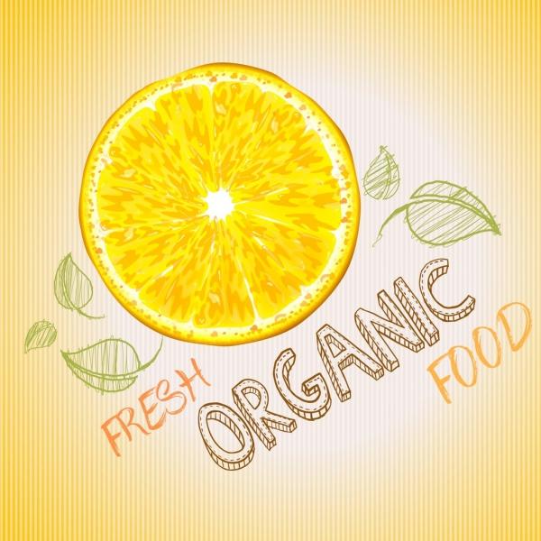 fresh food background handdrawn design lemon icon