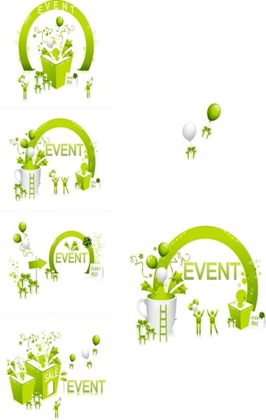 fresh green festival discount vector
