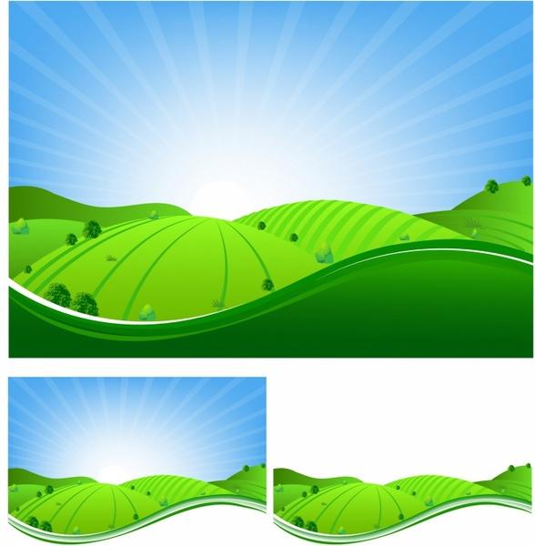 Landscape Illustration Vector Free: Landscape Free Vector Download (1,372 Free Vector) For