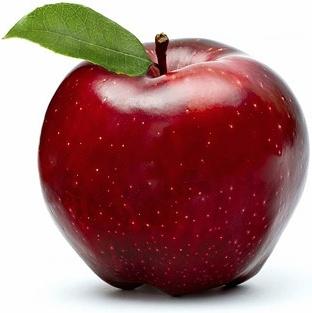 fresh red apple stock photo