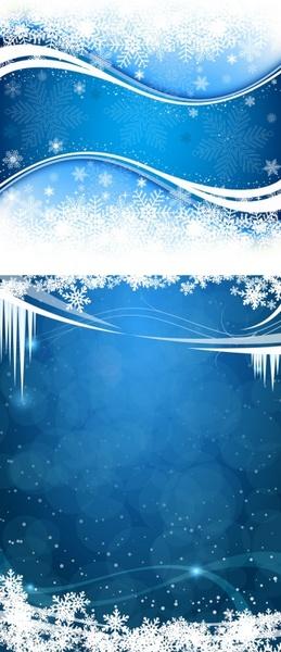 fresh snow background vector