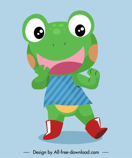 frog cartoon character icon cute stylized sketch