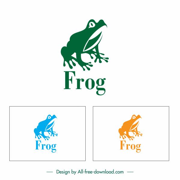 frog logo template flat handdrawn silhouette sketch