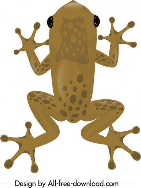 frog wild animal painting brown decor