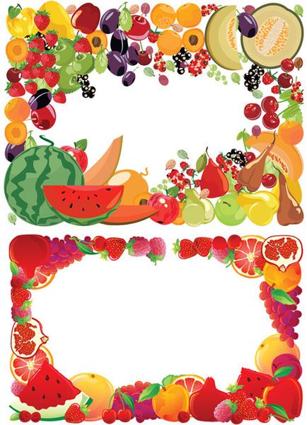 Fruit Border Vector Free Vector In Encapsulated Postscript